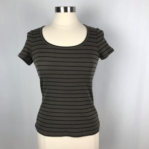 Boden Short Sleeve Striped Tee. Size 4